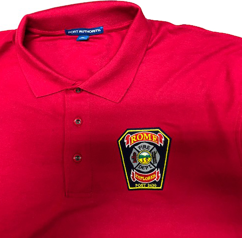Rome, Ohio Fire Department embroidered shirt